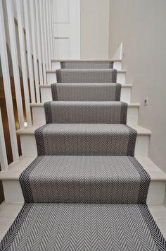 Felton Bespoke Herringbone - Off The Loom Painted Staircases, Painted Stairs, Spiral Staircases, Stairway Carpet, Carpet Stairs, Staircase Runner, Stair Runners, Narrow Hallway Decorating, Hallway Flooring