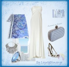 """Summer in Greece - 1"" by legallyblonde-gr ❤ liked on Polyvore"