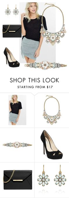 """""""Bella Fiore"""" by eryn-shimizu on Polyvore featuring Express, Chloe + Isabel, INC International Concepts, MICHAEL Michael Kors and chloeandisabel"""