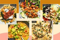 We've never been more excited to load up on summer vegetables. Easy Vegetarian Dinner, Vegetarian Recipes, Peanut Sauce Tofu, Easy Marinara Sauce, Spinach Ravioli, Dinner This Week, Meatless Monday, Meals For The Week, Vegetable Pizza