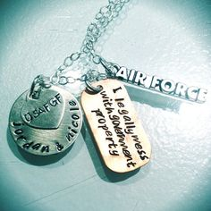 #airforce #love #deployment #customnecklace  @Jordan Miles
