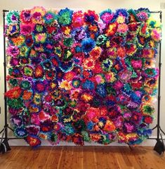 Mexican Paper Flower Wall Colored Tissue Paper Pom Poms - Set of 20 - Fiesta Flowers Wedding Arch Mexican Themed Weddings, Mexican Wedding Traditions, Paper Pom Poms, Tissue Paper, Fiesta Decorations, Mexican Wedding Decorations, Tissue Flowers, Quinceanera Party, Mexican Quinceanera Dresses