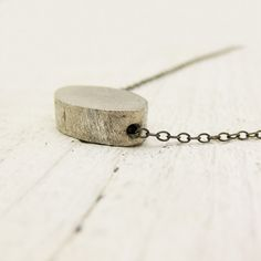 Brushed Sterling Silver Oval on Oxidized Sterling Silver by byjodi, $38.00
