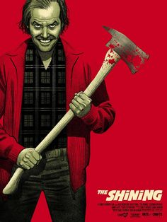 Jack Torrance from The Shining based on Steven King's book and the 1980 film directed by Stanley Kubrick Horror Movie Posters, Horror Icons, Cinema Posters, Movie Poster Art, Horror Films, Horror Art, Horror Movie Characters, Stanley Kubrick, Movie Posters