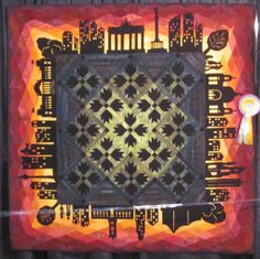 """""""Skyline"""" by Claudia Scheja was the Best of Show winner of the Open European Quilt Championships 2013."""