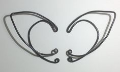 Black Wire Elf Ear Cuffs by ImaginativeDreamers on Etsy