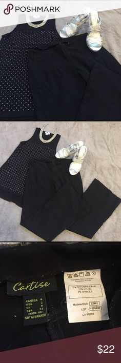 Black Dress Slacks 🌺 Thick black dress slacks. High quality. Very gently used, only worn a few times. Very comfortable. Cartise Pants Trousers