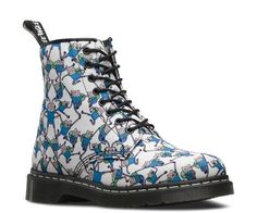 Awesome! Dr. Martens all-over Jake print canvas boots. #DrMartensXAdventureTime