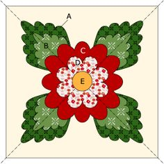 Applique Flower Block Pattern @ McCall's Quilting - free pattern