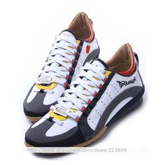 Aliexpress.com   Buy 2014 New DSQ Spring Summer Men s Sneakers Casual Shoes  Luxurious Italian Style Shoes Men Trainer Shoes Free Shipping from Reliable  ... ef6d08930e2