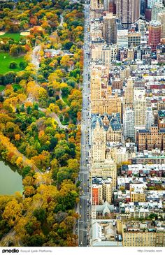 The intersection of two worlds separated.  New York, USA.