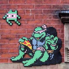 Invader's tile work in NYC, 2016 (LP) French Street, Street Artists, Luigi, Photo Art, Graffiti, Mosaic, Instagram Posts, Fictional Characters, Lp