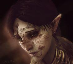 Dragon Age 2 Companions post battle/having a shitty day, by Shona Bird