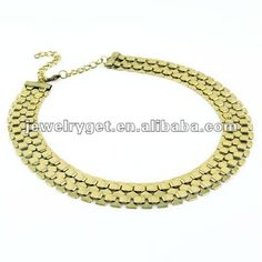 Aliexpress.com : Buy Mesh Gold Chain Bib Necklace, Textured Metal Linked Jewelry choker Necklace, Free Shipping, NL 1698 from Reliable iron mesh chain necklaces suppliers on Well Done Fashion Jewelry Co.,Ltd. $9.83