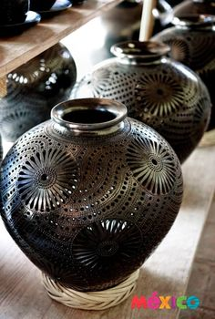 The famous black pottery from Oaxaca, Mexico
