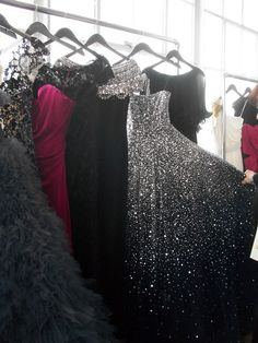 Sparkly prom dresses of many colors