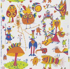 Alice in Wonderland Wallpaper (Piazza Prints)--so fun!