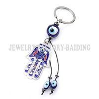 Good Hand Keychain FATIMA Evil Eye Keyring Gift