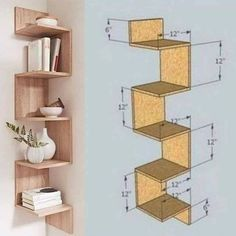Home Decor Shelves, Wall Shelves Design, Home Decor Furniture, Bookshelf Design, Folding Furniture, Tv Wall Design, Home Room Design, Home Interior Design, Diy Interior