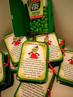 Grinch pills with printables