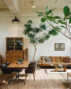 Vintage Industrial Decor get inspired to turn your industrial home design around, wood tree interior living rooms - The chosen one for you and for us! surely we're talking about the industrial home design What started o Industrial Home Design, Industrial Living, Home Interior Design, Vintage Industrial, Tree Interior, Industrial Style, Bohemian Interior, Scandinavian Interior, Interior Design Living Room Warm