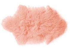peau d'agneau rose 'Mongolian' Bloomingville | shop pour enfants Le Petit Zèbre