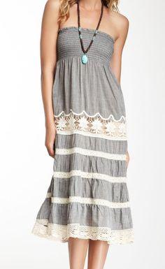 Smocked Lace Maxi Dress/Skirt