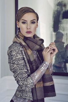 The Map Collection, knit scarfs, tonal browns