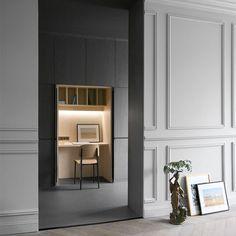 Soft neutral tones + clean lines | Sophisticated study nook | Rue Du Japon | RMGB  #neutral #soft #simplicity #studynook #rmgb #ruedujapon #interiorinspo #interiordesign #renocliq #detail