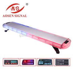 R65 certificated 1200mm amber led lightbar with display police 47inch 132 led wrecker beacon flashing recovery emergency lightbar strobe light bar red blue mozeypictures Gallery