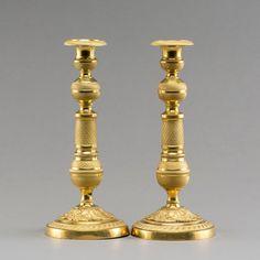 Par de casticais Franceses em bronze gilded a ouro da primeira metade do sec.19th, 29cm de altura, 4,330 USD / 3,800 EUROS / 15,130 REAIS / 27,950 CHINESE YUAN soulcariocantiques.tictail.com