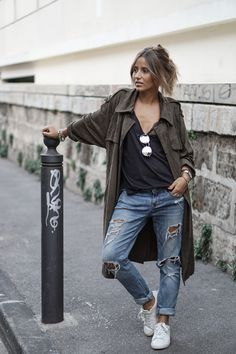 I like the *casual but chic, splash of tomboy flair* look Urban Fashion, Love Fashion, Winter Fashion, Fashion Looks, Fashion News, Fall Outfits, Casual Outfits, Fashion Outfits, Look Boho Chic