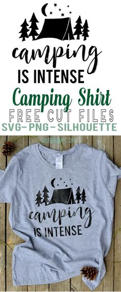 DIY Crafty Camping shirt for summer camps and summer vacation using heat transfer vinyl or printable heat transfer paper!!