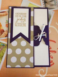 Stampin Up Geburtstags Karte, Birthday Card, Gewellter Anhänger, Wimpeleien