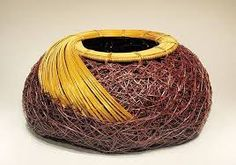 "Resultado de imagem para Basketry, Jane Chavez, Artist, El Coralino (Coral-like), 5"" x 9.5"" diameter"