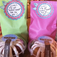 """Parent Volunteer gifts """"your help was a""""bundt""""ant this year!"""""""