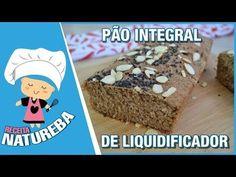 Massa básica de pão integral, não precisa sovar é bem simples e fácil. Em casa eu faço com recheio salgado e doce. Pão Integral Caseiro de Liquidificador