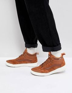 86ff2b29851b87 Vans Mn Ultra Range Hi Sneakers In Tan VA3JESDX3 Retro Sneakers