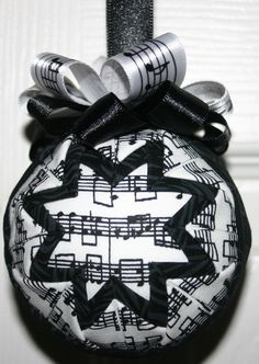 Music to My Ears Fabric Quilted Ornament by WreathsByKari on Etsy, $7.99