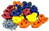 Swingroller Kids Rock Climbing Holds with Hardware, Red/Blue/Yellow   Indoor rock climbing gym: kids love to climb and with these rock climbing holds they will have hours of fun and success. Don't let the weather put a damper on their ability to climb! Swing set climbing wall: the rock...