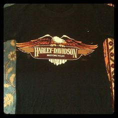 Vintage Harley Davidson Bikers Tee This tee is bad to the bone. Vintage Harley tee with classic eagle emblem. Paper thin feel, perfect vintage fit. Can't miss! Vintage Tops