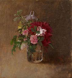 Albert Edelfelt - Blommor i ett Vattenglas 1873