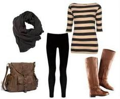 love this look!  Leggings outfit