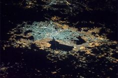 From astronaut Chris Hadfield aboard the ISS: 'Mexico City, one of the largest metropolitan areas on Earth - housing roughly the same population as Australia.' [1024x679]