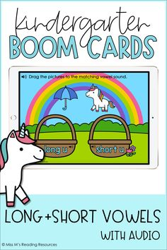 Long and Short Vowel Sort Boom Cards™