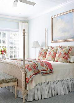 Euro pillows across the bed