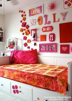 a raspberry sherbet Tween Bedroom Makeover!