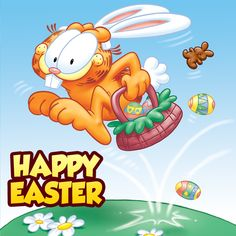 Happy Easter from Garfield and Silverwood