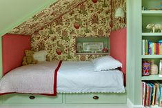 How an Awkward Closet Nook Became a Little Girl's Pistachio-Hued Bedroom