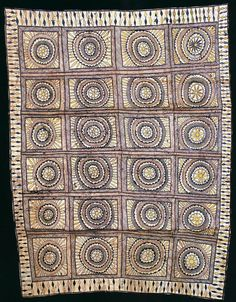 Tapa cloth. ca. 1895 |  Hiapo is the Niuean word for tapa cloth. Traditionally it was patterned with designs unique to the island, many of them depicting events that were topical at the time the hiapo was painted. In recent years, hiapo art has been enjoying a revival